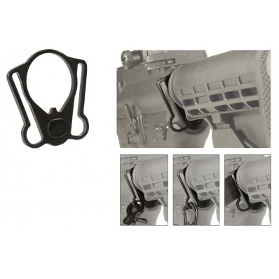Leapers UTG PRO Model 4/15 Collapsible Stock Receiver Plate with Ambidextrous Sling Adaptor