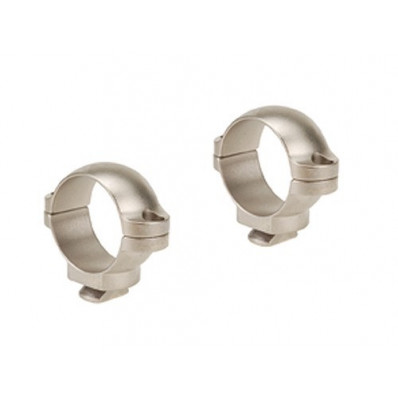 "Leupold Dual Dovetail Rings - 1""  Low, Silver"
