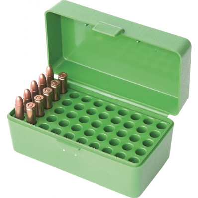 MTM 50 Round Case-Gard .22 Hornet Rifle Ammo Box