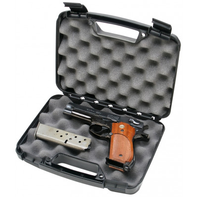 "MTM Snap-Latch Single Handgun Case for Up to 4"" Barrels Black"
