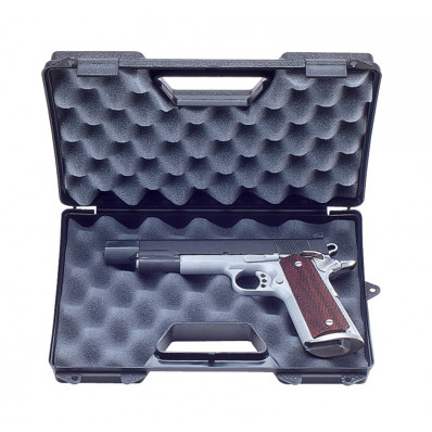 "MTM Single Handgun Case with Hook for Up to 6"" Barrel - Black"