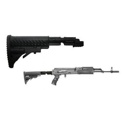 Mako Group Collapsible Butt Stock with Shock Absorber for AK 47