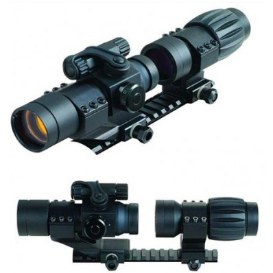 GMG Magnifier for Eotech, Aimpoint and Red Dot / Reflex Sight - 3x30mm - Black