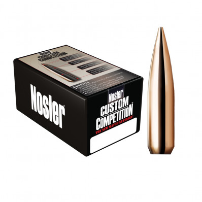 "Nosler Custom Competition Bullets 6.5mm .264"" 123 gr HPBT 100/ct"