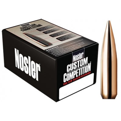 "Nosler Custom Competition Bullets .30 cal .308"" 168 gr HPBT 250/ct"