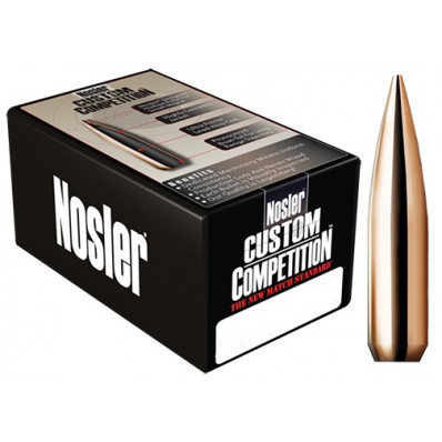 "Nosler Custom Competition Bullets .22 cal .224"" 52 gr HPBT 100/ct"