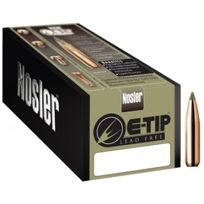 "Nosler E-Tip Lead-Free Hunting Bullets 8mm .323"" 180 gr SPTZ E-TIP 50/ct"