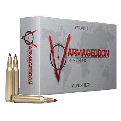 Nosler Varmegeddon Centerfire Rifle Ammunition .222 Rem 40 gr FB Tippped 3400 fps - 20/box