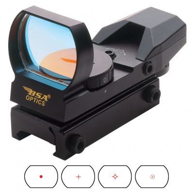BSA Panoramic Red Dot Sight with Multiple Reticles
