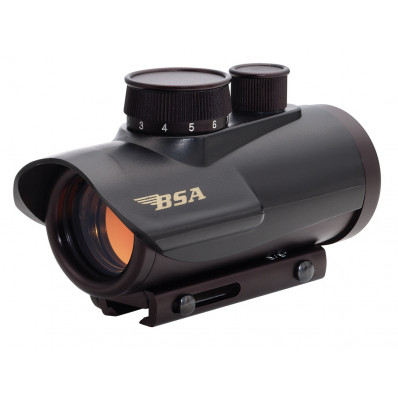 BSA Illuminated Red Dot Sight 1x30mm 5 MOA Red Dot - Black