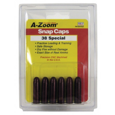 A-Zoom Metal Snap Caps .38 Special - 6/ct