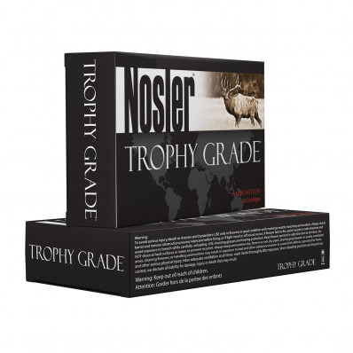 Nosler Trophy Grade Centerfire Rifle Ammunition .25-06 Rem 100 gr PT 3300 fps - 20/box