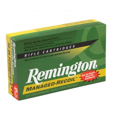 Remington Managed Recoil Centerfire Rifle Ammunition .30-06 Sprg 125 gr PSP 2660 fps - 20/box