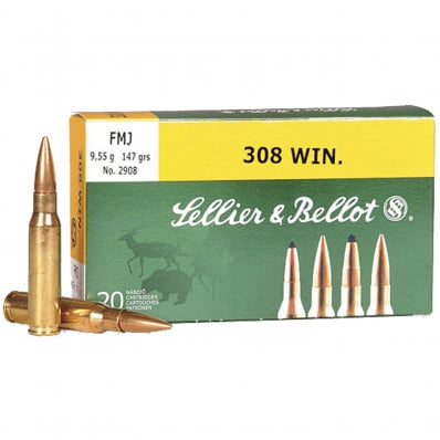 Sellier & Bellot Rifle Ammunition 8x57JS 196 gr FMJ 2540 fps - 20/box