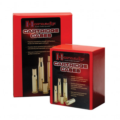Hornady Unprimed Brass Rifle Cartridge Cases - .338 Win Mag 50/box