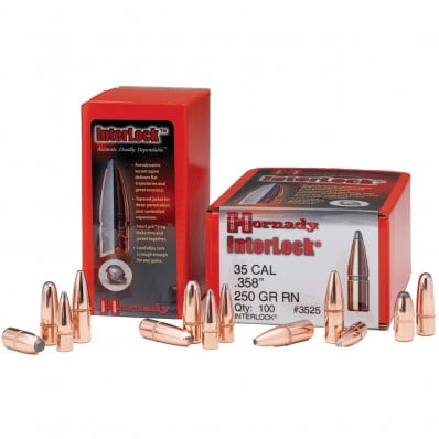 Hornady Interlock Bullets .30 cal 110 gr FMJ-RN 100/Bag