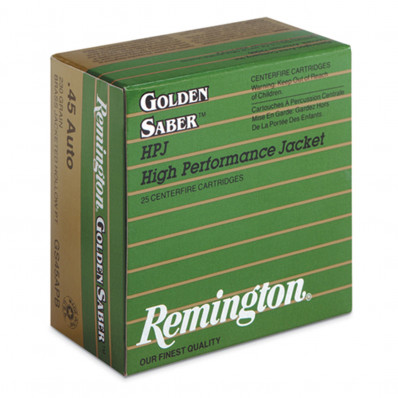 "Remington Premier Golden Saber Bullets .400 cal .400"" 165 gr BR 100/ct"