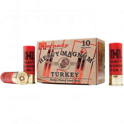 "Hornady Heavy Magnum Turkey 12 ga 3""  1 1/2 oz #4 1300 fps - 10/box"