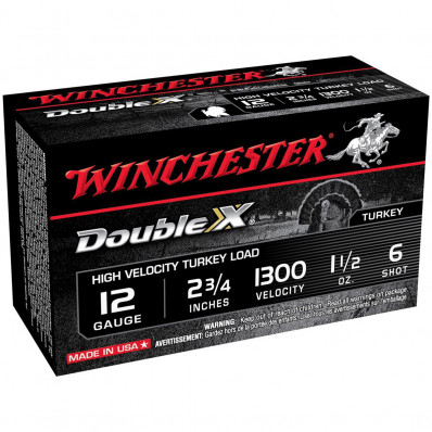 "Winchester Double X Turkey Load 12 ga 3"" MAX 1 3/4 oz #4 1300 fps - 10/box"