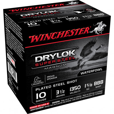 "Winchester Super-X Drylok Super Steel 20 ga 3"" MAX 1 oz #3 1300 fps - 25/box"