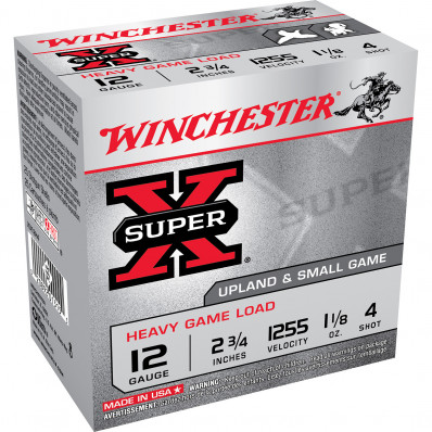 "Winchester Super-X Heavy Game 12 ga 2 3/4""  1 1/8 oz #7.5  - 25/box"