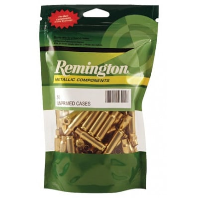 Remington Unprimed Brass Rifle Cartridge Cases - 6.5x55 Swedish 50/box