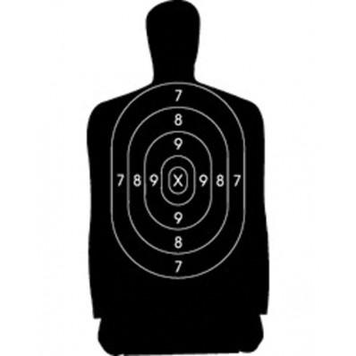 Speedwell Official NRA Police Qualification Silhouette Police Silhouette Reduced 25 yd., 500/Pack