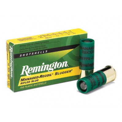 "Remington Slugger Managed-Recoil Rifled Slug 12 ga 2 3/4"" 1 oz - 5/box"