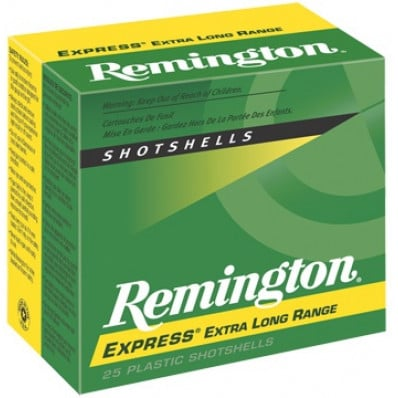 "Remington Express Extra Long Range Shotgun Ammo 20 ga 2 3/4"" 2 3/4 dr 1 oz #4 1220 fps - 25/box"