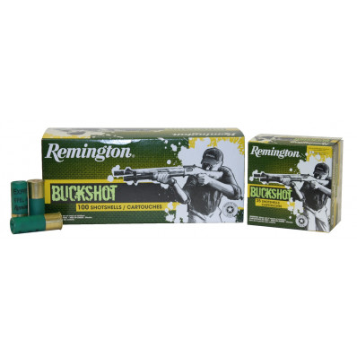"Remington Buckshot 12 ga 2 3/4"" 3 3/4 dr 9 plts #00 1325 fps - 100/box"