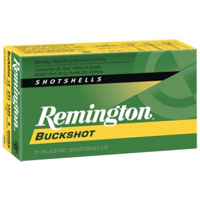 "Remington Express Buckshot Shotgun Ammo 12 ga 2 3/4"" 3 3/4 dr 12 plts #0 1275 fps - 5/box"
