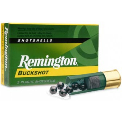 "Remington Express Magnum Buckshot Shotgun Ammo 12 ga 2 3/4"" 4 dr 12 plts #00 1225 fps - 5/box"