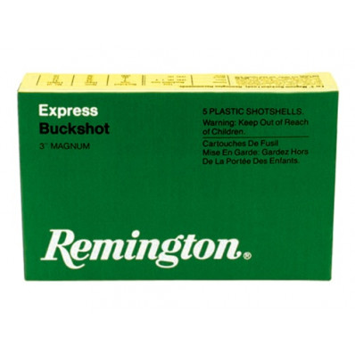 "Remington Express Magnum Buckshot Shotgun Ammo 12 ga 3"" 4 dr 41 plts #4B 1290 fps - 5/box"
