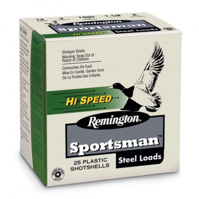 "Remington Sportsman Steel 12 ga 3"" MAX 1 1/4 oz #2 1550 fps - 25/box"