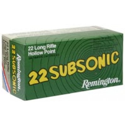 Remington .22 Subsonic Rimfire Ammunition