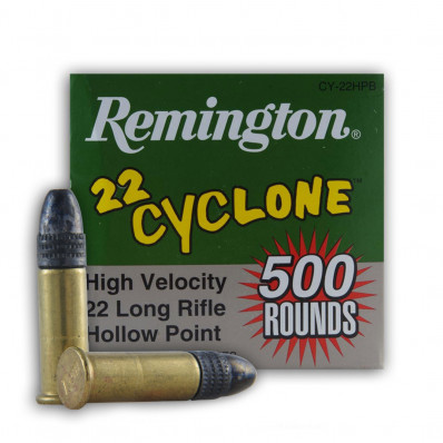 Remington Cyclone .22 LR 36 gr Cyclone HP Rimfire Ammo - 50/box