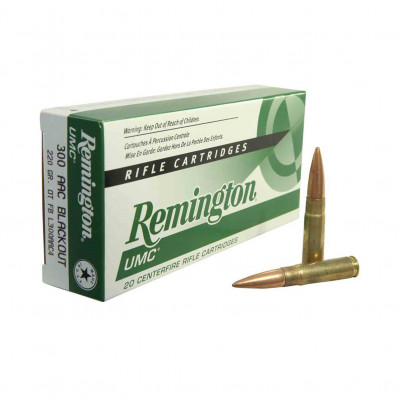 Remington UMC Centerfire Rifle Ammunition .300 AAC Blackout 220 gr OTM 1050 fps 20/Box