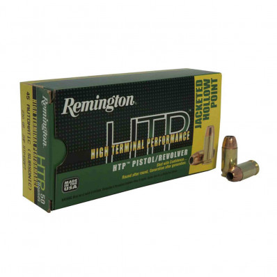 Remington HTP Centerfire Handgun Ammunition .45 ACP  JHP  50/box