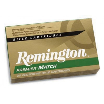 Remington Premier Match Centerfire Rifle Ammunition .308 Win 168 gr BTHP 2680 fps - 20/box