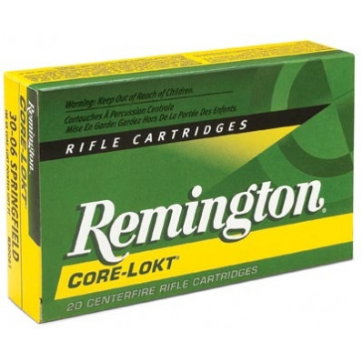 Remington Core-Lokt Centerfire Rifle Ammunition .25-06 Rem 100 gr PSP 3230 fps - 20/box
