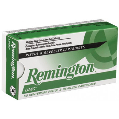 Remington UMC Centerfire Handgun Ammunition 9mm Luger 115 gr FMJ  50/box
