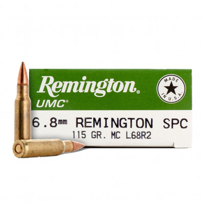 Remington UMC Rifle Ammunition 6.8 SPC 115 gr MC 2625 fps - 20/box
