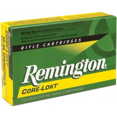 Remington Core-Lokt Centerfire Rifle Ammunition .30-06 Sprg 220 gr SP 2410 fps - 20/box