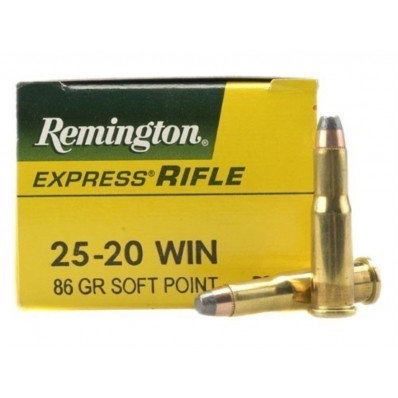 Remington Centerfire Rifle Ammunition .25-20 Win 86 gr SP 1460 fps - 50/box