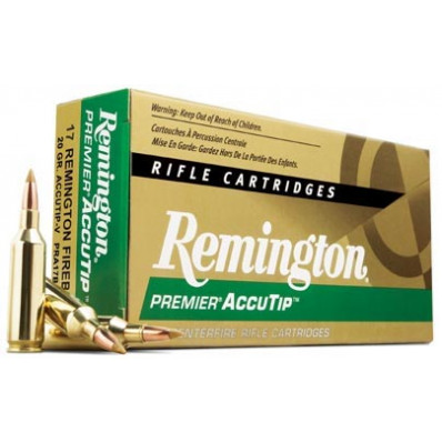 Remington Premier AccuTip Varmint Centerfire Rifle Ammunition .17 Rem Fireball 20 gr ATV - 4000 fps