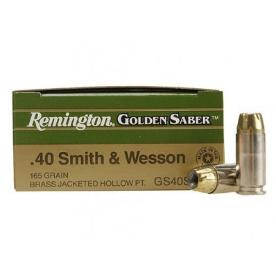 Remington Golden Saber Handgun Ammo .40 S&W 165 gr BJHP  25/box