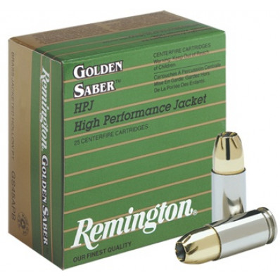 Remington Golden Saber Handgun Ammo .45 ACP (+P) 185 gr BJHP  25/box