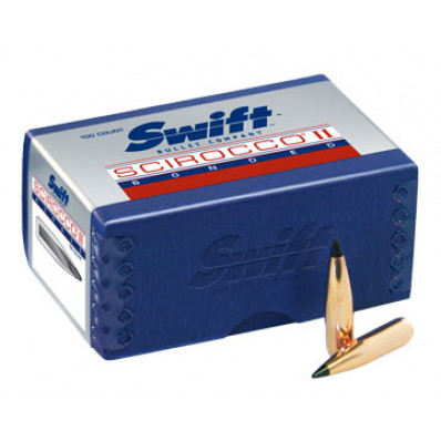 "Swift Scirocco II Bullets .30 cal .308"" 165 gr BTS 100/ct"
