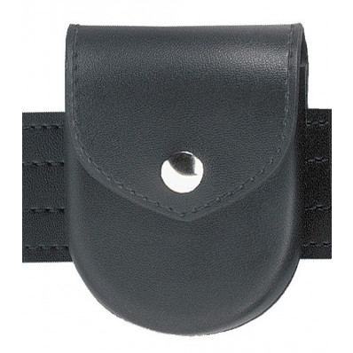 Safariland Model 90 1 Snap Handcuff Pouch Top Flap, Plain Black, Brass Molded