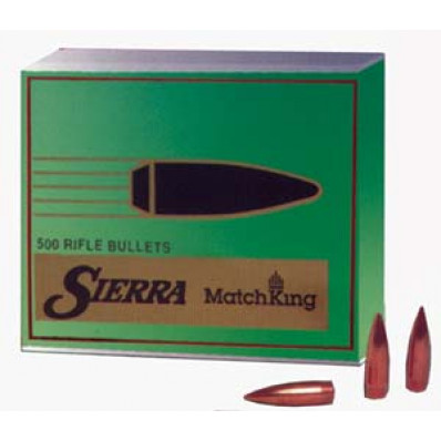 "Sierra MatchKing Long Range Specialty Bullets .22 cal .224"" 80 gr HPBT MATCH MOLY 500/ct"